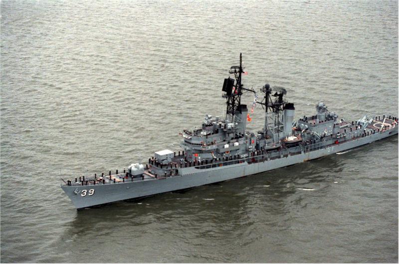 DESTROYERS LANCE-MISSILES CLASSE FARRAGUT 11130USS_Macdonough_New_York_1989
