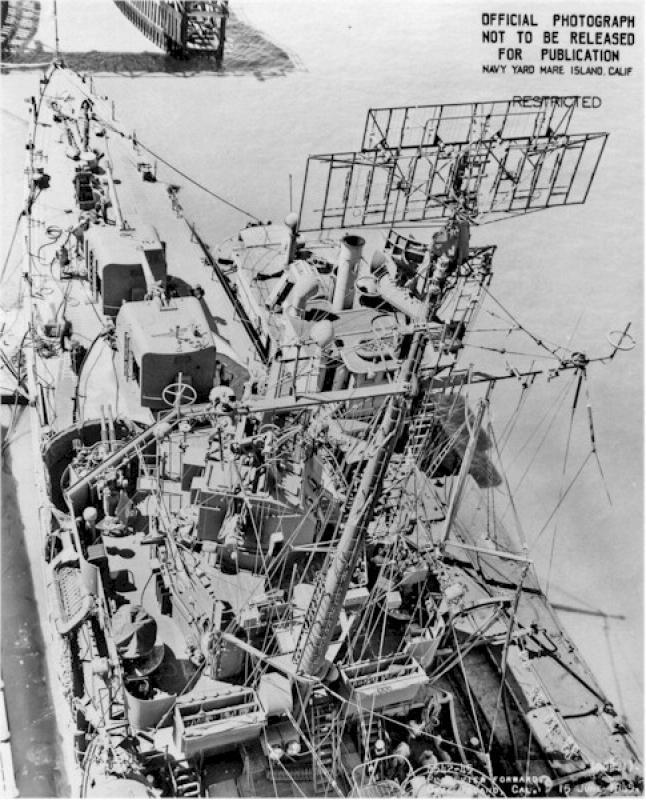 DD- 541 USS YARNELL 1/350, base Trumpeter 2133750554122