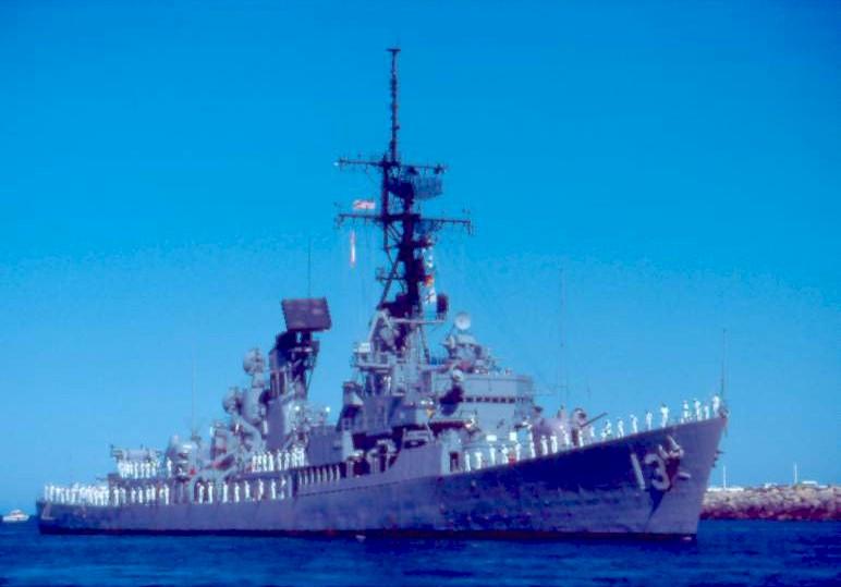 DESTROYERS LANCE-MISSILES CLASSE CHARLES F. ADAMS 227912USSHoelDDG13Fremantle1983