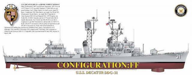 DESTROYERS LANCE-MISSILES CLASSE CHARLES F. ADAMS 287296ClasseForrestShermanCT