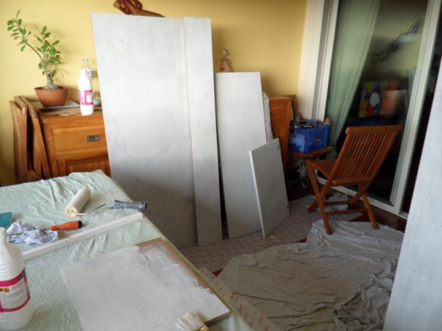 SUR MESURE: Démarrage bac encastré et son meuble. 364728PANNEAUX