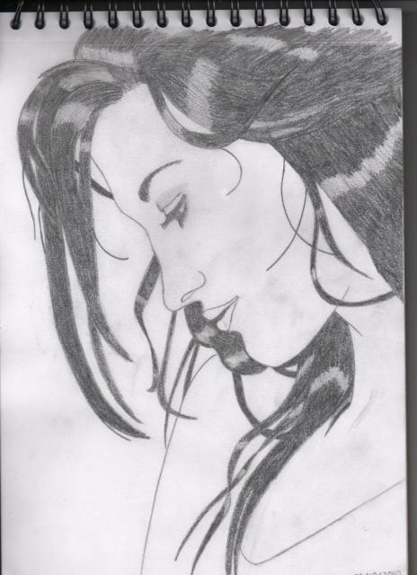 Pas à pas : Profil femme 386844Portrait_femme_de_profil_004