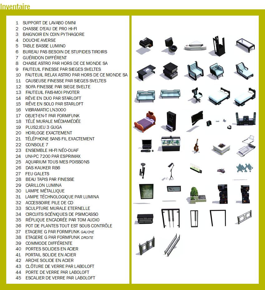Les Sims™ 3 Inspiration Loft Kit - Page 3 426928liste