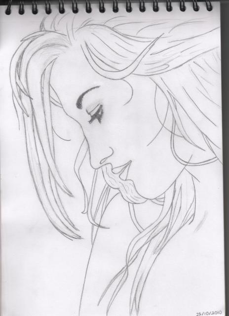 Pas à pas : Profil femme 452209Portrait_femme_de_profil_002