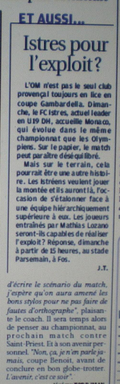 FC ISTRES B  // DHR  MEDITERRANEE  et AUTRES JEUNES  - Page 2 618976IMGP4359
