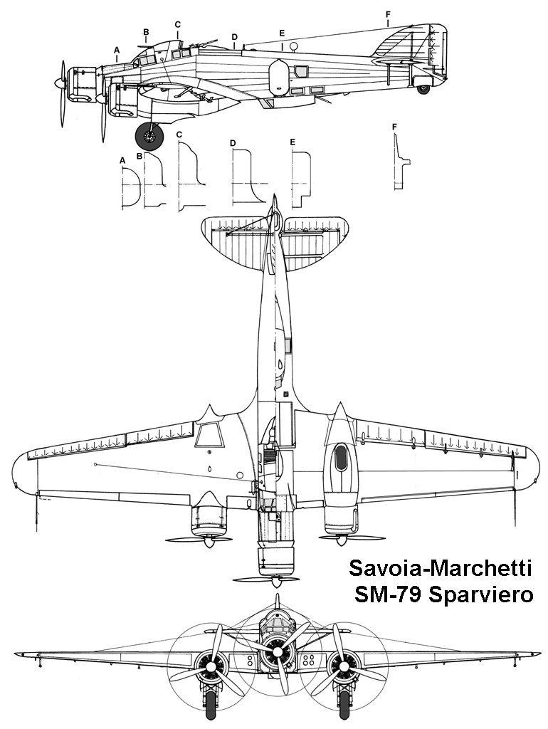 SAVOIA-MARCHETTI SM-79 SPARVIERO 688520sm79_3v