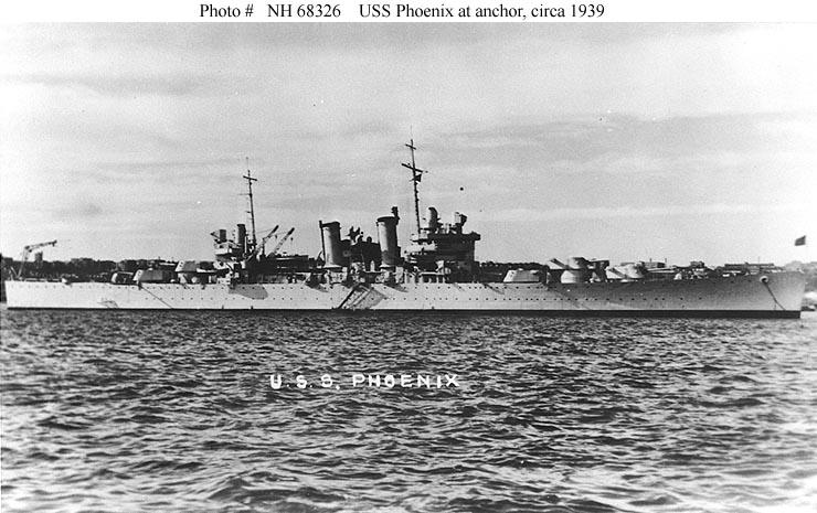 USN CROISEURS LEGERS CLASSE BROOKLYN 711066USS_Phoenix_1939