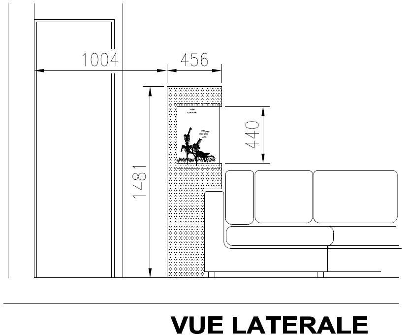 SUR MESURE: Démarrage bac encastré et son meuble. 752424VUE_LATERALE