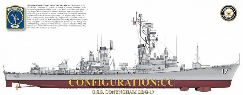 DESTROYERS LANCE-MISSILES CLASSE CHARLES F. ADAMS - Page 2 752632USSConynghamDDG17CT