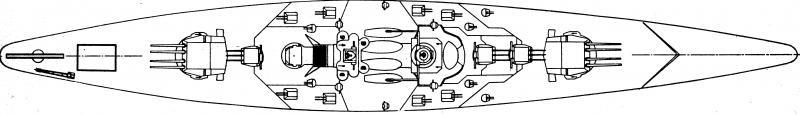 FRANCE CUIRASSES CLASSE RICHELIEU - Page 2 840056Gascogne_profil_2