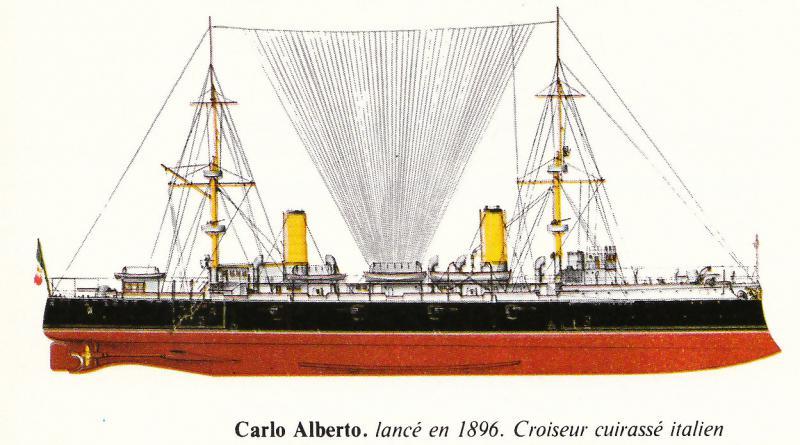 ITALIE CROISEURS LOURDS CLASSE TRENTO 883357Carlo_Alberto