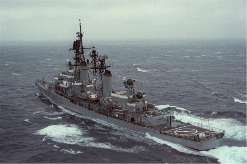 DESTROYERS LANCE-MISSILES CLASSE CHARLES F. ADAMS 892634USSWilliamVPrattAtlantique1984