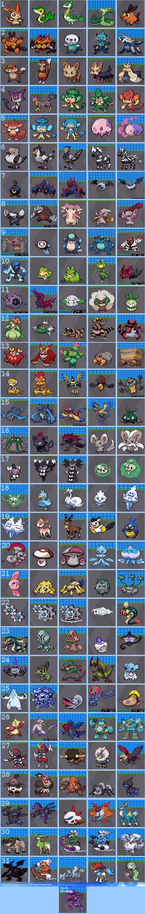 [Nintendo] Pokémon tout sur leur univers (Jeux, Série TV, Films, Codes amis) !! - Page 4 916285listedespokemond__isshuavecnumeros