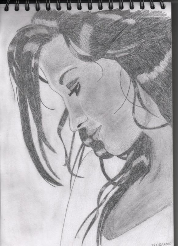 Pas à pas : Profil femme 956086Portrait_femme_de_profil_006