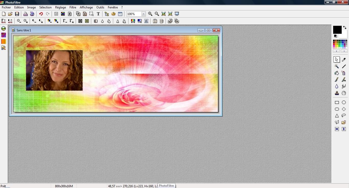 Comment faire pencher une image, avec Photofiltre.  980231