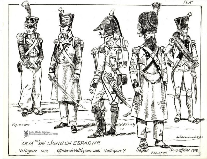 le 14e régiment d'infanterie de ligne 981568le14edeligneenEspagne