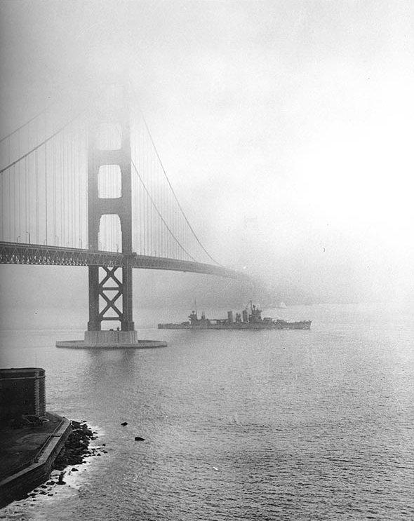 USN CROISEURS LOURDS CLASSE NEW ORLEANS  113457USS_San_Francisco_Golden_Gate_decembre_1942