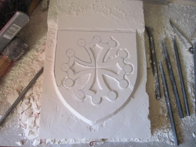 Sculpture sur carreaux de platre ( Croix Occitane ) 1315091167