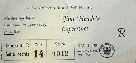Nuremberg (Meistersingerhalle) : 16 janvier 1969 [Premier concert]  138404Nurembergtix