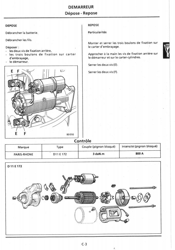 Cherche comment Déposer démarreur Cherokee  TD 2.1 de 1988 140566CElectricitePage03
