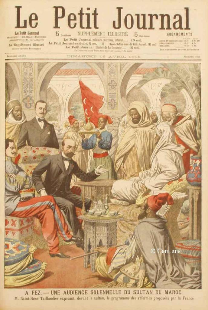 صفحات من تاريخ المغرب الحديث من خلال Le Petit journal illustré 145828pj75216041905