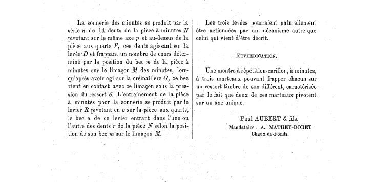 Les brevets suisses : recherches etc... 146236tremol11