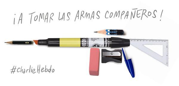 Charlie Hebdo : idées de textes, d'illustrations et de réflexions à partager avec les élèves - Comment faire cours après cela ? 149251Prenonslesarmes