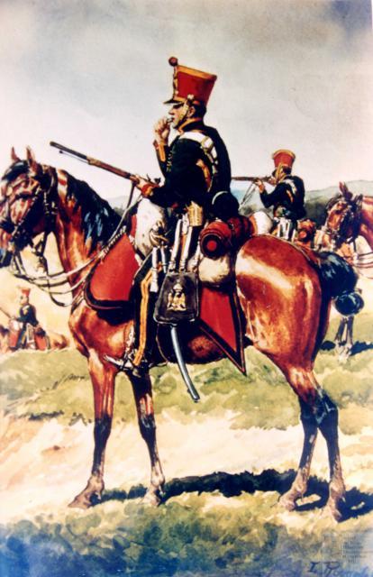 les tirailleurs à cheval de la Jeune Garde en 1815 156353CCGI26