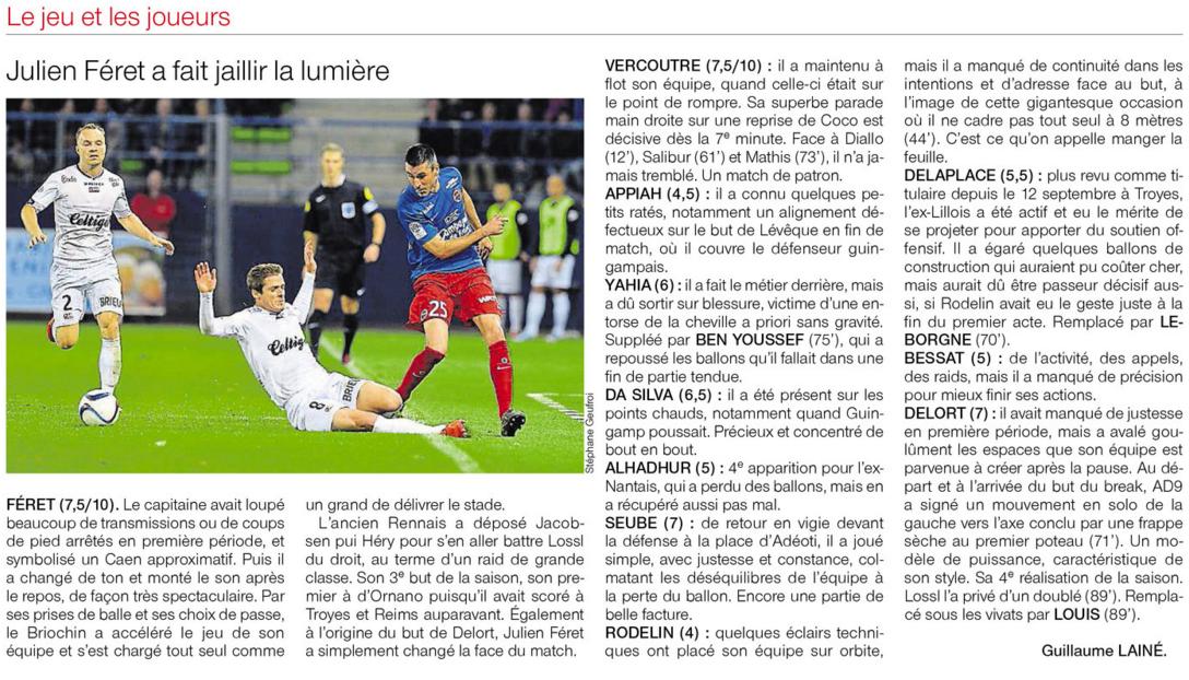 [13e journée de L1] SM Caen 2-1 EA Guingamp - Page 2 159396notes