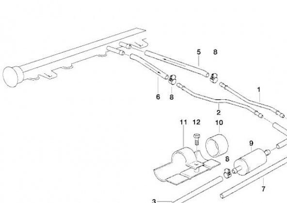 [BMW 316 i E36] Réparation d'une fuite d'essence moteur 1612404Conduitesdecarburant