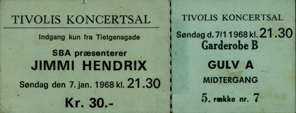 Copenhague (Tivolis Konsertsal) : 7 janvier 1968 1655701768