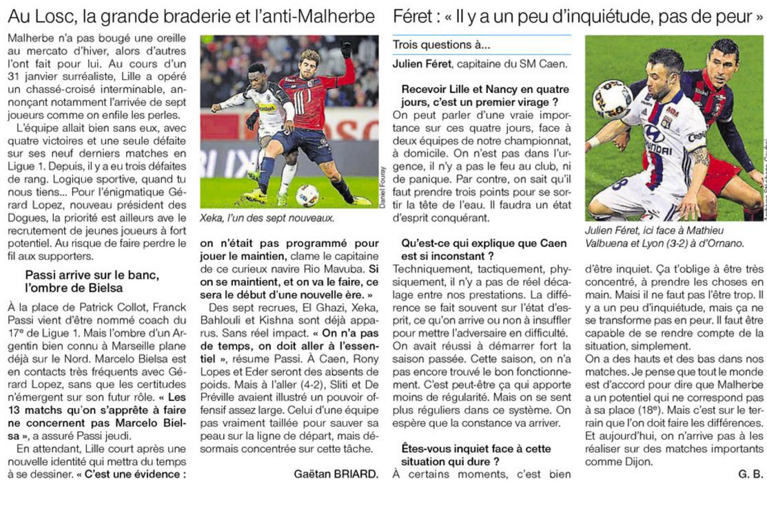 [26e journée de L1] SM Caen 0-1 Lille OSC 166093lille2