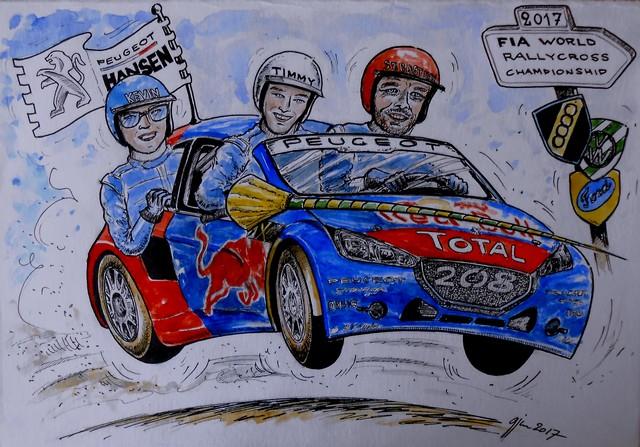 Rallycross -Les PEUGEOT 208 WRX dans l'arêne 16850158a9eb77a699f
