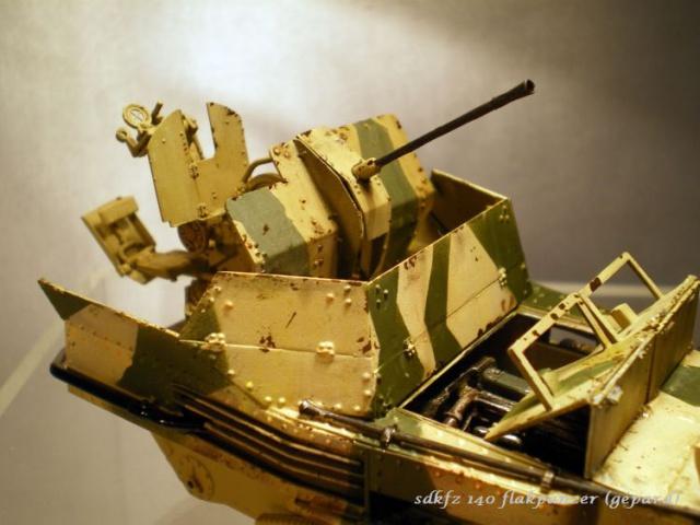 sd.kfz 140 flakpanzer (gépard) maquette Tristar 1/35 169424IMGP3097