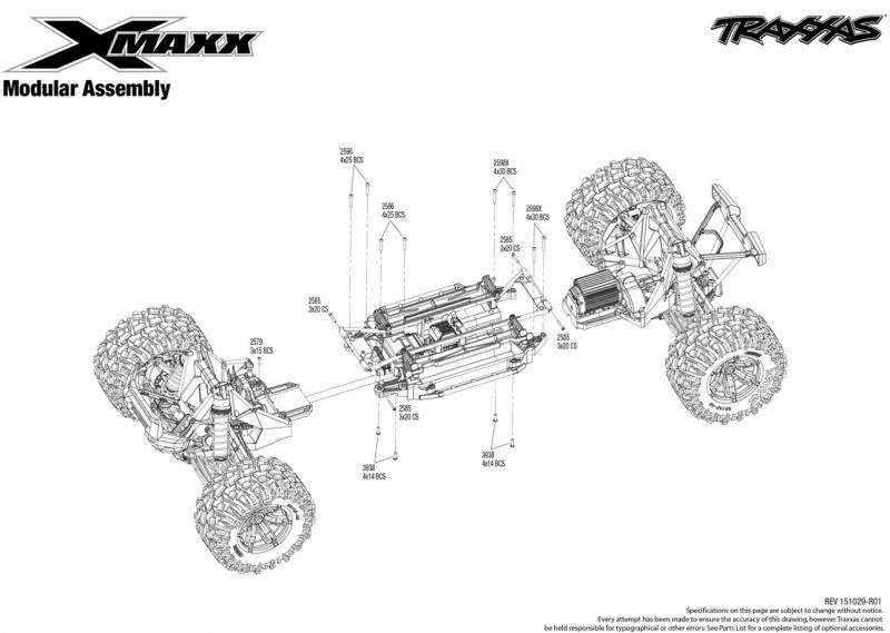 X-Maxx 77076-4 Vue Eclatée/Explosée 171460Capture3