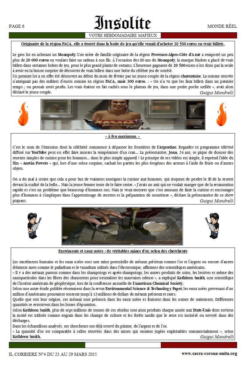 Il Corriere N°4 du 23 au 29 mars 2015 187239Insolite