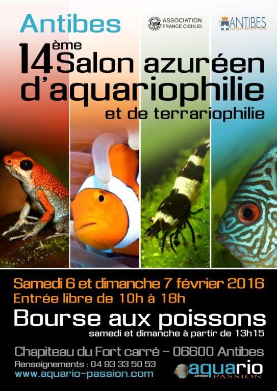 14éme Salon Azuréen de l'aquariophilie et terrariophilie  ANTIBES   (06) 188180Affiche2016Web