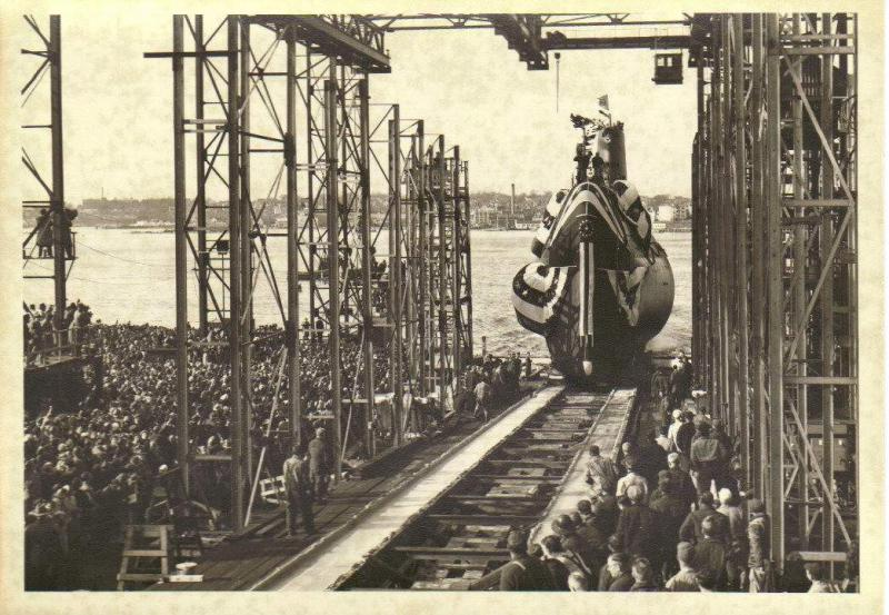 SOUS MARIN NUCLEAIRE D'ATTAQUE USS NAUTILUS 189708USSNautiluslancement