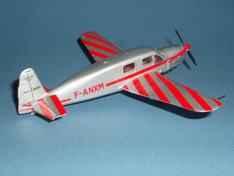 CAUDRON C-635 Simoun  (version Raid Paris-Tokyo). 1937  Heller 1/72. 191279caudronraid020