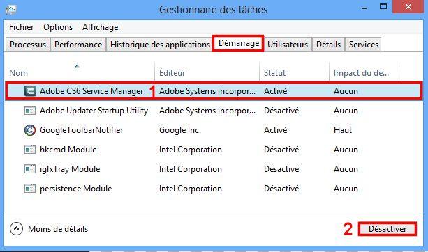 Désactiver les logiciels au démarrage 192510963