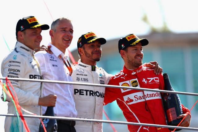 F1 GP d'Italie 2017 : Lewis Hamilton s'impose à Monza 1954272017gpditalieBottashamiltonvettel