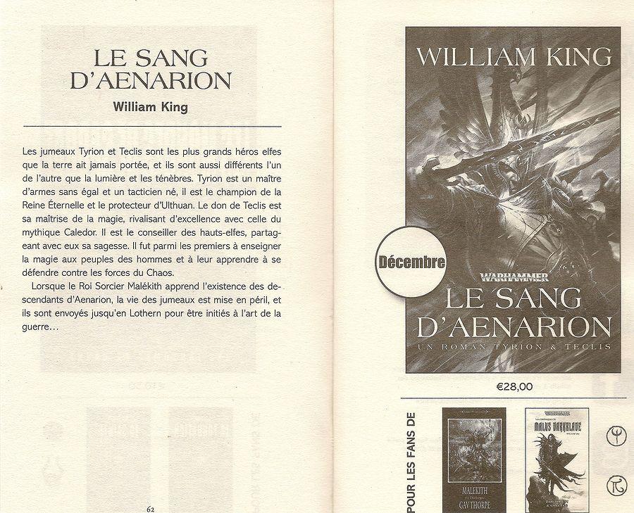 Le Sang d'Aenarion de William King 200427Lesansdaenarion