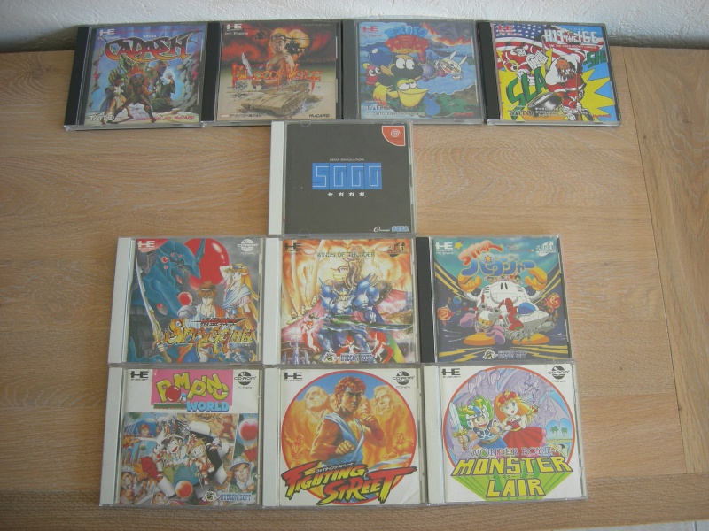 My collec ! Retro un jour.............. 201816PCEngine5etCDROM