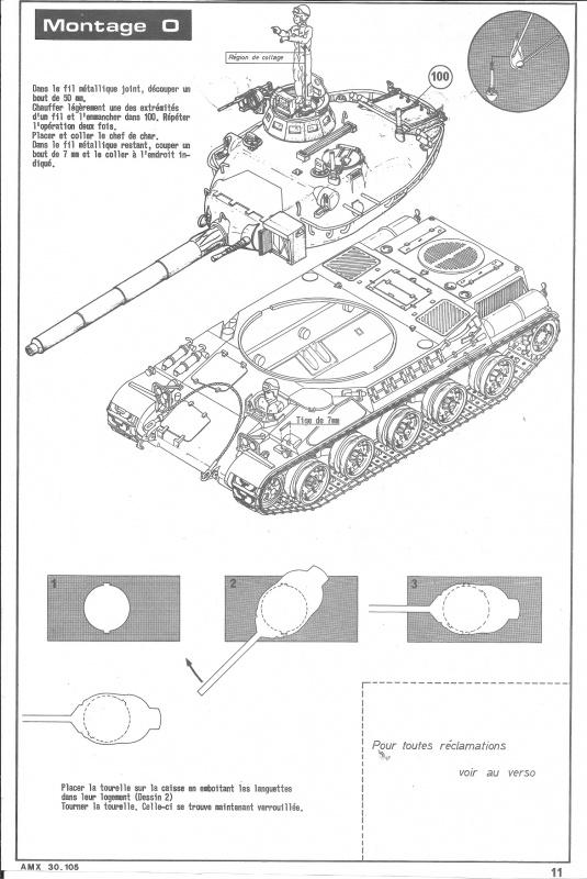 AMX 30 canon de 105 1/35ème Réf L 810 210458HellerAMX30105810011
