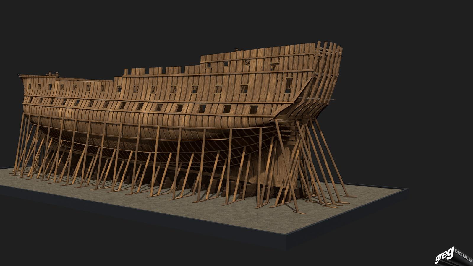 Vaisseau 74 canons Lucide [Création 3D] de Greg_3D - Page 4 217706Squeletteportes2