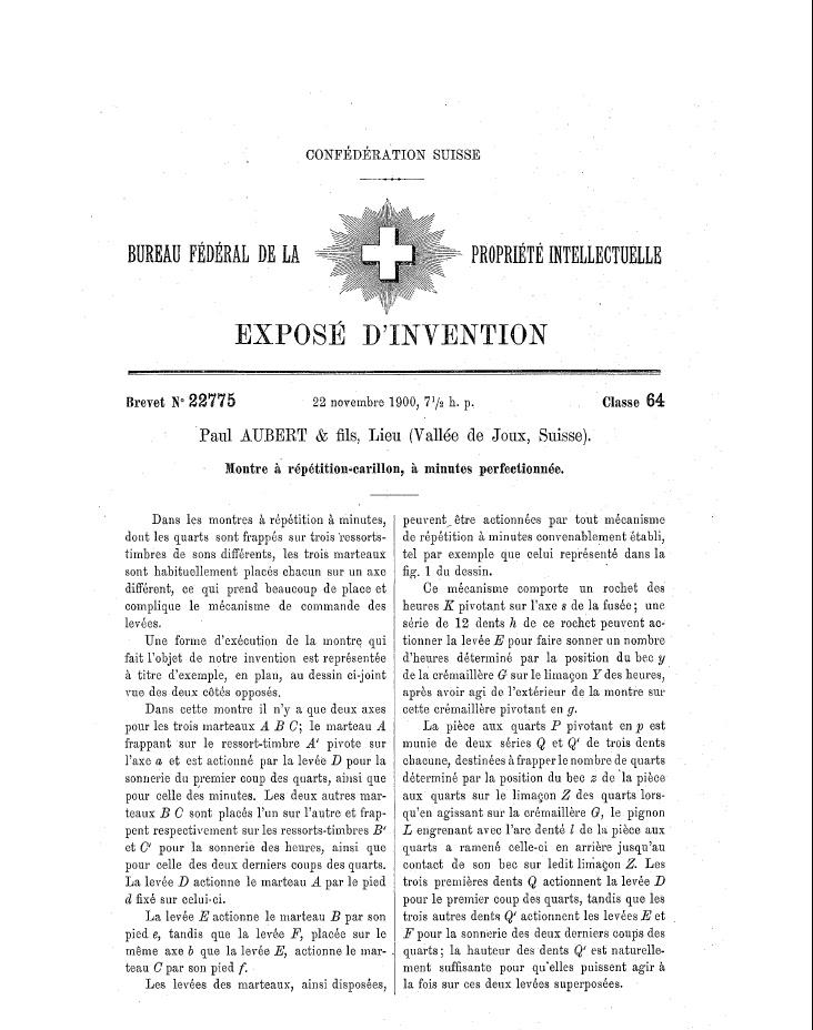 Les brevets suisses : recherches etc... 219072tremol10