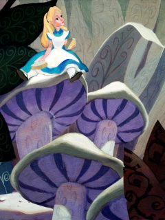 [Collection] Disney Fine Art de Collectors Editions (artworks) 226435Alice20on20Mushroom2016x12