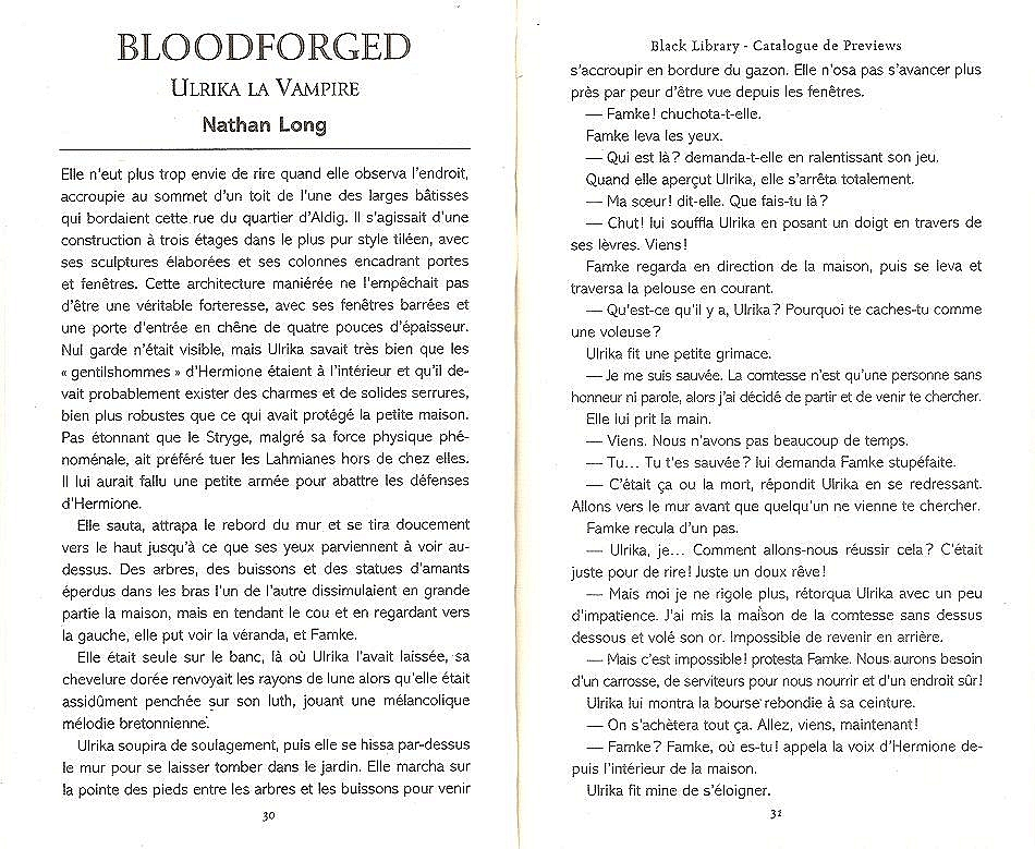 Trilogie Ulrika la Vampire : Bloodborn / Bloodforged / Bloodsworn de Nathan Long 228771blood1