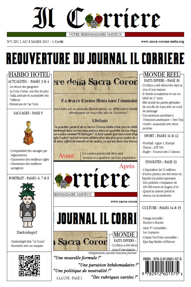 Il Corriere N°1 du 2 au 8 mars 2015 231052Une