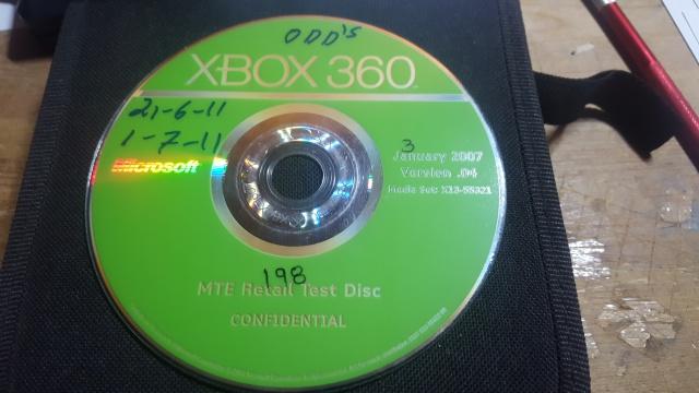 MTE Retail Test Disc Xbox 360 23206920170120113659